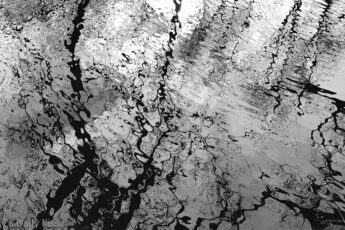 water ripplesthat look like abstract black and white
