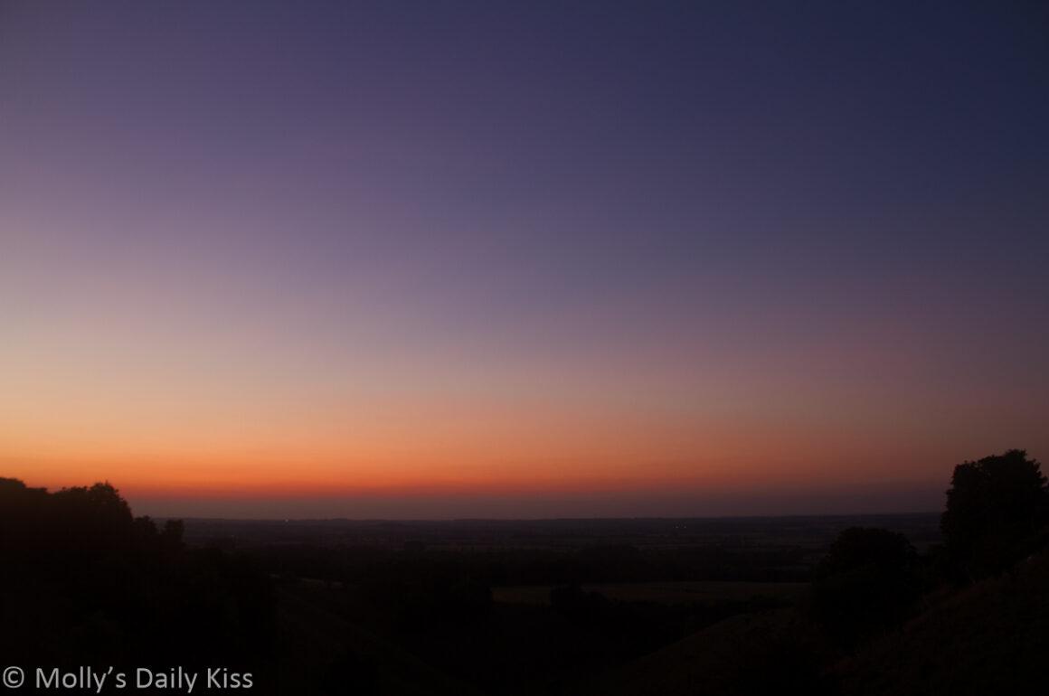Sunset over Pegston Down